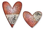 "Troquel Tim Holtz Alterations ""Mini corazones"""