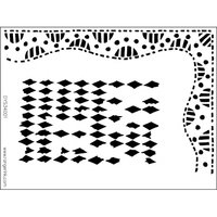 Máscara Diamond Border 9x12