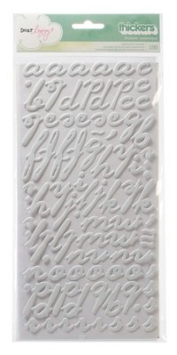 "Alfabeto plastificado con relieve ""SPLENDID/MAGNIFIQUE"" blanco"