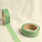 Washi Tape stripes verde