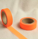 Washi Tape color naranja neón