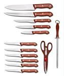Knife Set 13 Pieces Tacoma Knife with wooden block | As seen on TV