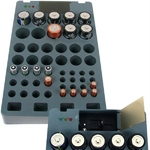 Battery Organizer with Tester Rechargeable Alkaline batteries as seen on TV