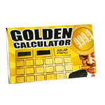 Golden Solar Powered Calculator 16,5 x 10 cm  | Jokes and Funny