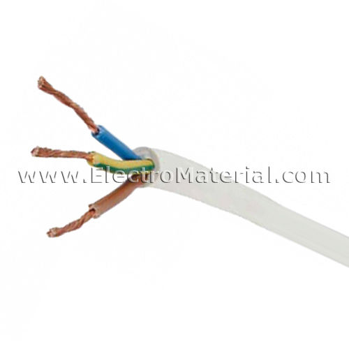 Cable manguera blanca H05VV-F 3x1,5 mm