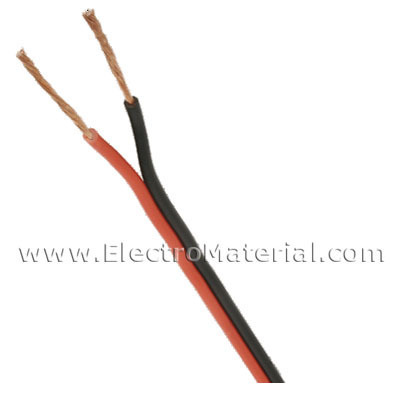 Cable paralelo de audio Bicolor (Rojo/Negro) 2x0,75 mm