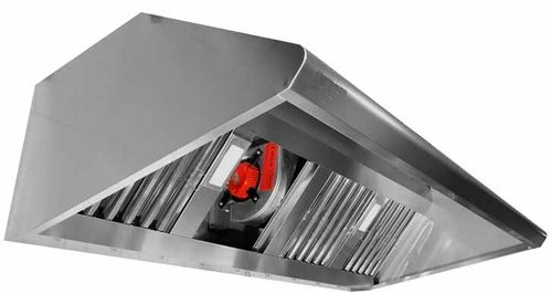CAMPANA INDUSTRIAL DE PARED FONDO 800 LONGITUD 1500 mm. EXTRACTOR 9/9 1/3 cv