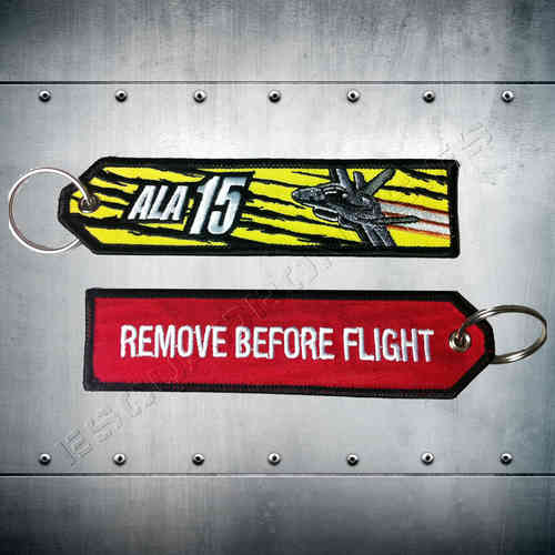 Llavero bordado Remove Before Flight Ala 15.