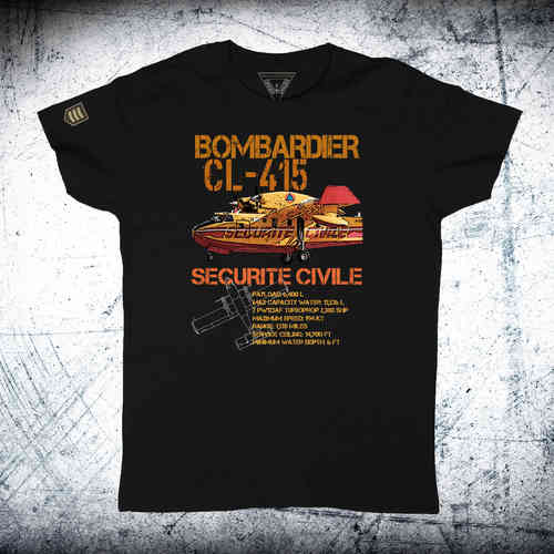 Camiseta BOMBARDIER CL-415 SECURITE CIVILE Ordnance