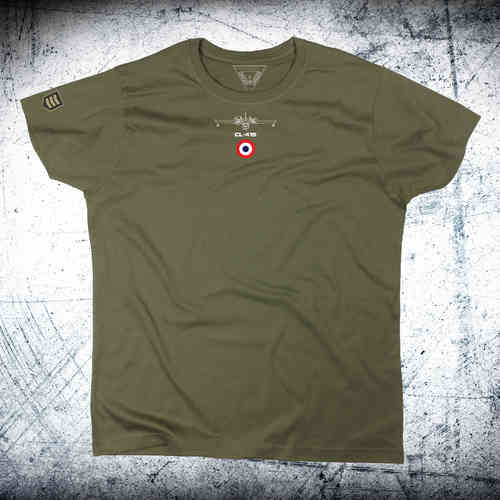 Camiseta BOMBARDIER CL-415 SECURITE CIVILE Escarapela y avión en cuello