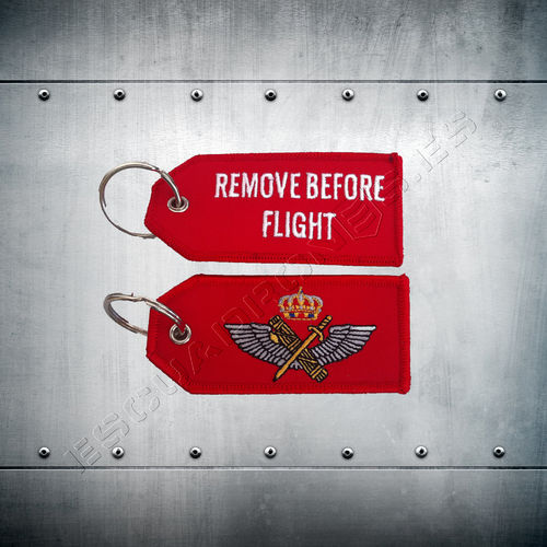 Llavero bordado  Guardia Civil REMOVE BEFORE FLIGHT