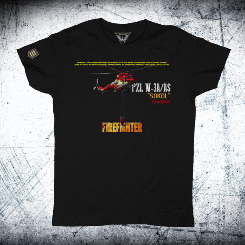 Camiseta FIREFIGHTER helicóptero Sokol W-3A/AS