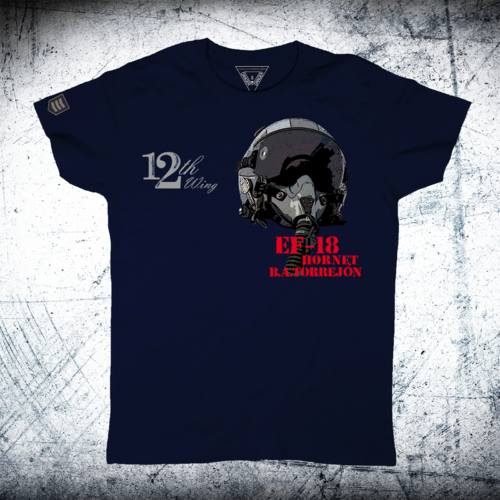 Camiseta militar 12th Wing casco ALA 12