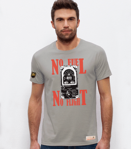 Camiseta militar NO FUEL, NO FLIGHT