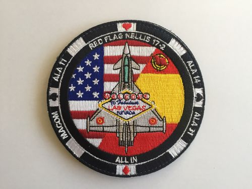 Embroidered patch ALA 14 RED FLAG LAS VEGAS 2017. Velcro back
