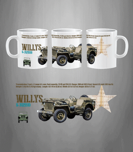 Taza Jeep Willys ARMY