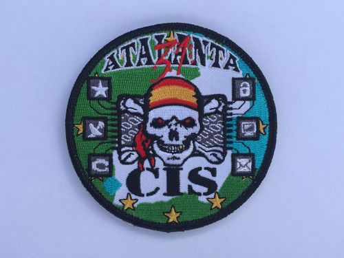 Embroidered patch CIS ATALANTA. Velcro back.