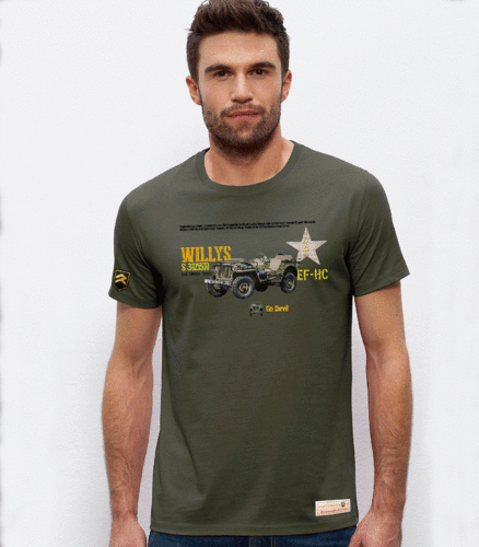 Military PREMIUM T-Shirt Jeep Willys ARMY USA