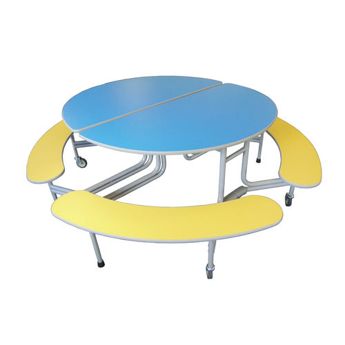 SICO Oval Graduate Bench Folding Mobile Table