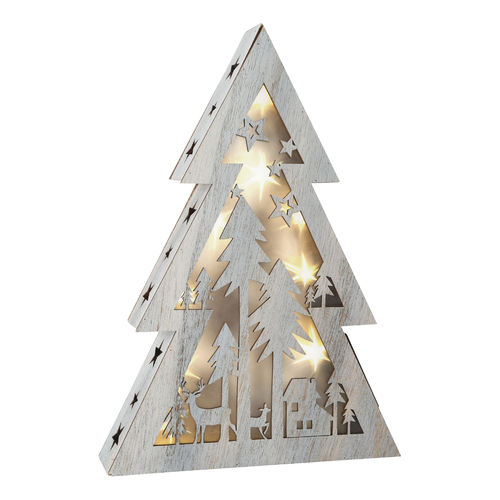 Shabby Chic Big Lighted Christmas Tree