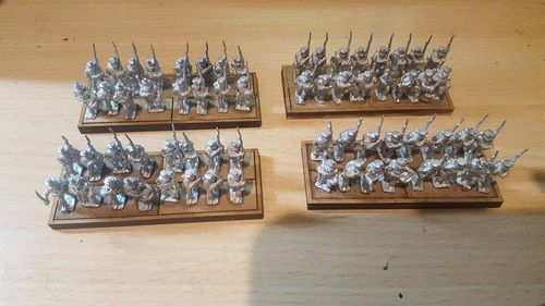 Napoleonic movement tray 4 infantry bases 40x15mm