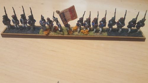 Napoleonic movement tray 4 infantry pedestals 40x15mm in a row