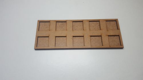 Tray of movement of skirmish in 20 x 20 mm 10 miniatures