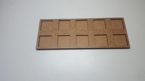 Tray of movement of skirmish in 25x 25 mm 10 miniatures