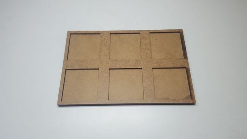 Hacker movement tray in 40x40mm 6 miniatures