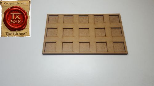Hacker movement tray in 25 x 25 mm 15 miniatures