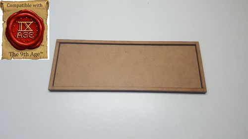Movement tray for 3 miniatures of 40x40mm
