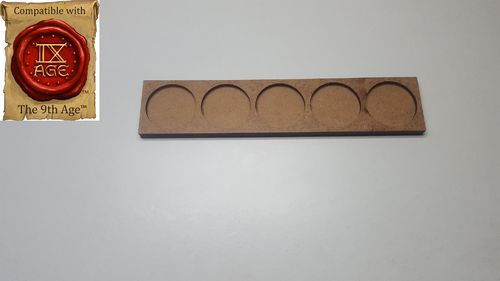 Movement tray for 5 miniatures with 25mm round base