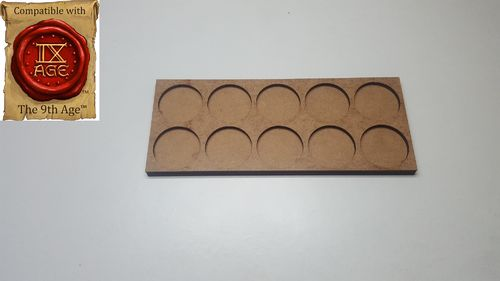 Movement tray for 10 miniatures with 25mm round base