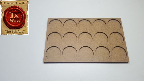Movement tray for 15 miniatures with 25mm round base