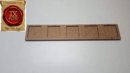 Hacker movement tray in 25 x 25 mm 5 miniatures