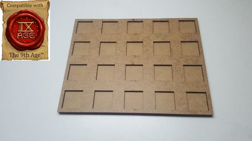 Hacker movement tray in 20 x 20 mm 20 miniatures