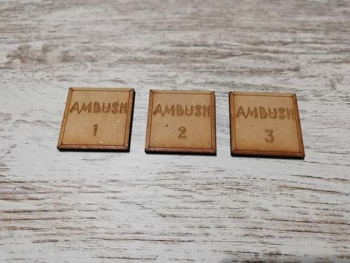 3 Hole markers for art of war or similar 40x40mm