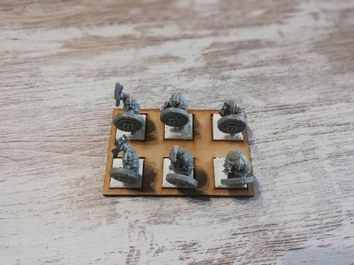 Hosting movement tray of 6 miniatures of 20x20mm