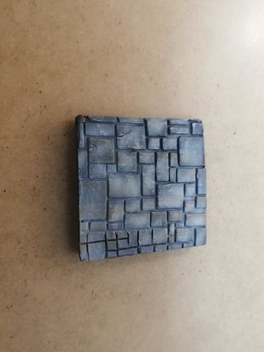 Pack of 3 resin paving blocks of 40x40mm