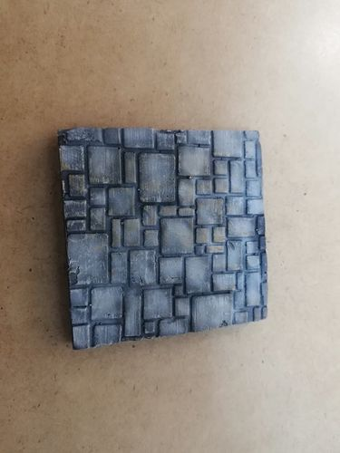 Resin base 50x50mm paving stones