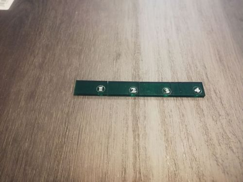 4-inch ruler in green methacrylate
