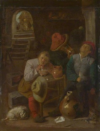 Adriaen Brouwer (style of). Four Peasants in a Cellar. National Gallery London\\n\\n01/11/2011 00:08