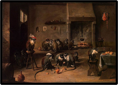 David Teniers the Younger Apes in the Kitchen (1645)\\n\\n01/11/2011 00:03