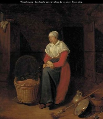 Quiringh Gerritsz van Brekelenkam. An interior with a woman by a cradle\\n\\n01/11/2011 00:20