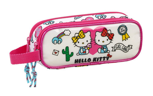 "HELLO KITTY PORTATODO DOBLE ""GIRL GANG"""
