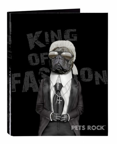 "PETS ROCK FASHION CARPETA FOLIO 4 ANILLAS MIXTAS ""FASHION"""
