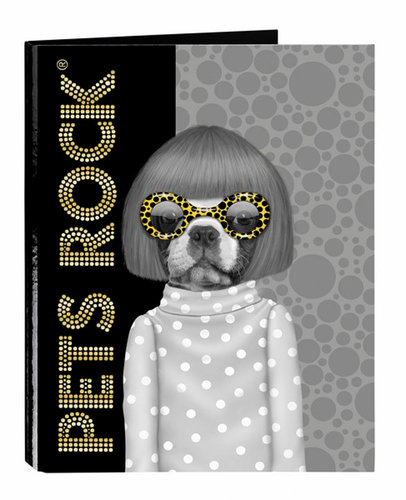 "PETS ROCK CARPETA FOLIO 4 ANILLAS MIXTAS ""SPOTS"""