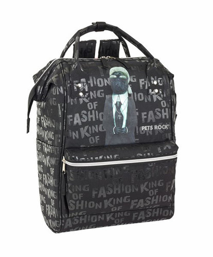"PETS ROCK MOCHILA C/ASAS PARA PORTATIL 40CM ""FASHION"""