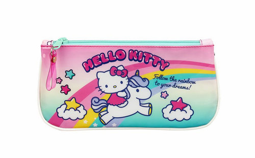 "HELLO KITTY PORTATODO PLANO ""CANDY UNICORNS"""