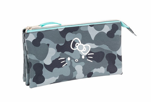 "HELLO KITTY PORTATODO TRIPLE ""CAMO"""
